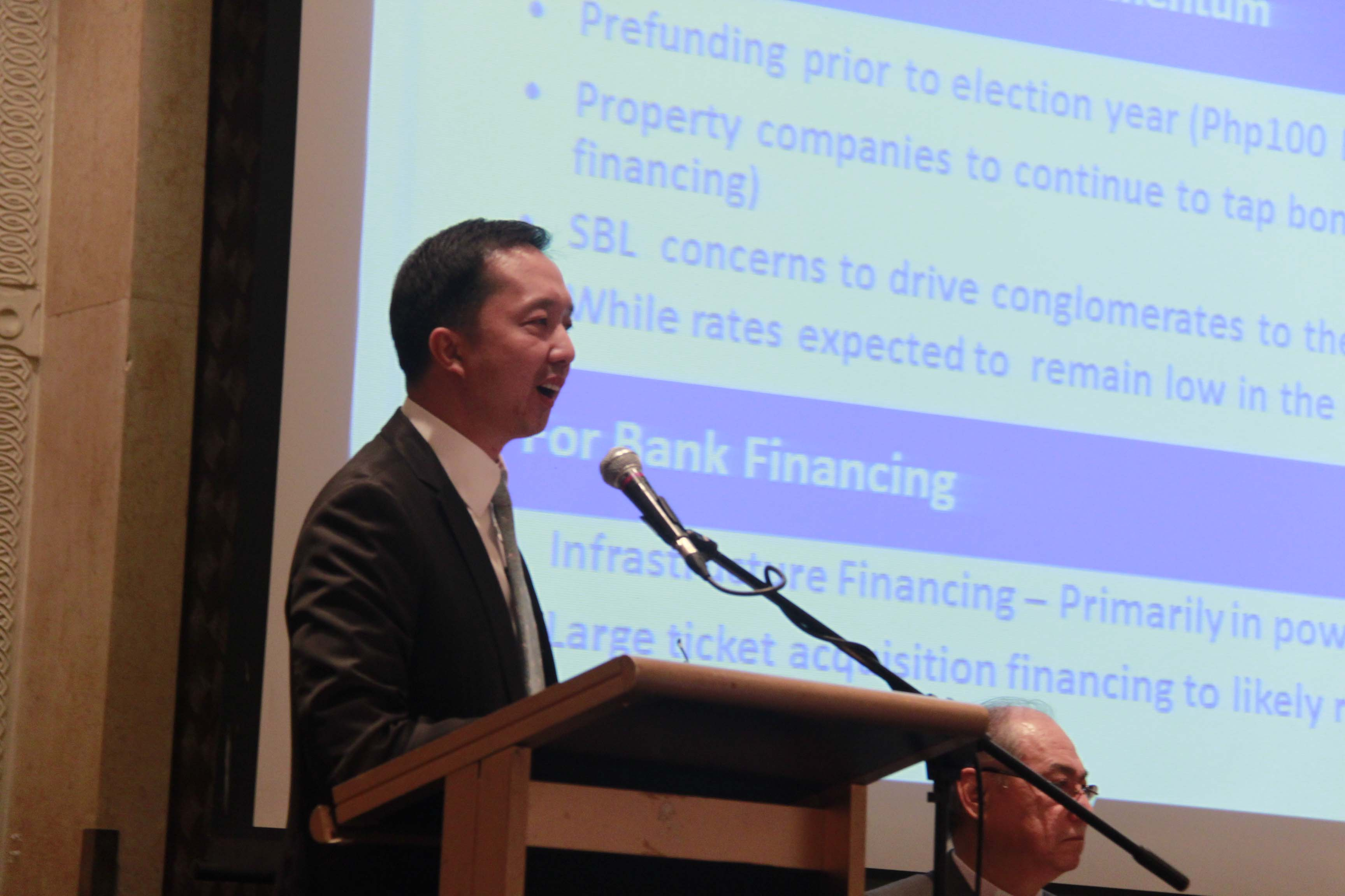 Justino Juan Ocampo, Investment Banking Group Head, at the First Metro Annual Economic & Capital Markets Briefing